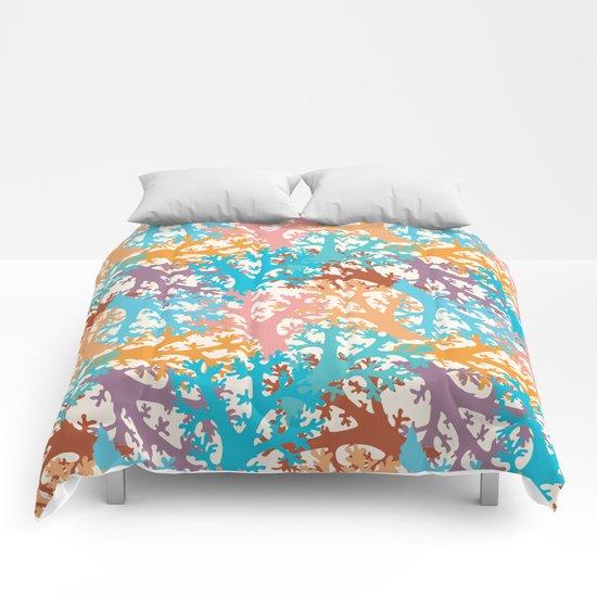 Pastel Marine Pattern 05 Comforters