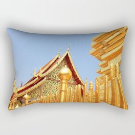 Golden Temple Rectangular Pillow