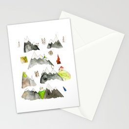 Watercolor Hills for Hikers and Nature lovers Stationery Cards