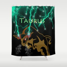 Taurus Birth Sign Shower Curtain