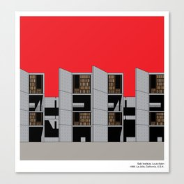 Salk Institute Kahn Modern Architecture Canvas Print