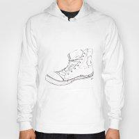 shoe Hoodies featuring Shoe by Tony Bozanic Art