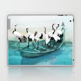 White Cranes Laptop & iPad Skin