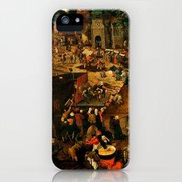 "Pieter Brueghel II (The Younger) ""A Village Fair (Village festival)"" iPhone Case"