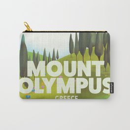 Mount Olympus, Greece, Travel poster Carry-All Pouch