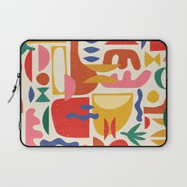 Mid Century Summer Abstraction Pattern Laptop Sleeve