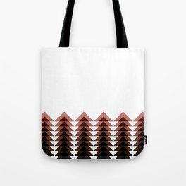 Brown Triangle Tree Tote Bag