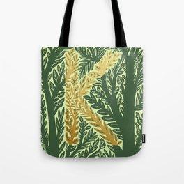 Botanical Metallic Monogram - Letter K Tote Bag
