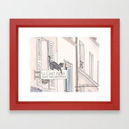 Black Cat Paris Le Chat Noir Montmartre Framed Art Print