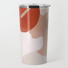 Lady with a Red Leaf Travel Mug