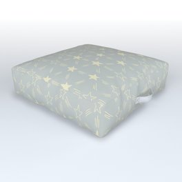 Stars and Stripes in Soft Grey Outdoor Floor Cushion