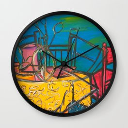 """Celebrations #society6 #decor #buyart  36"""" x 64"""" Oil on hand stretched canvas Wall Clock"""