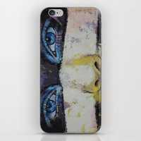 superhero iPhone & iPod Skins featuring Superhero by Michael Creese