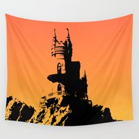 castle Wall Tapestries featuring Castle by Julia Badeeva