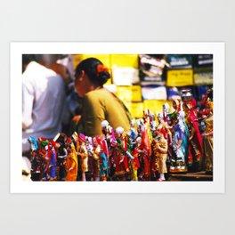 Anjuna flea-market, Goa, India Art Print