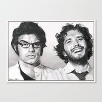 flight of the conchords Canvas Prints featuring Flight of the Conchords by Mike Robins