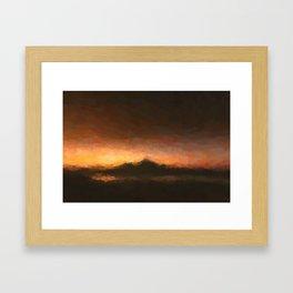 Abstract Dusk landscaoe Framed Art Print
