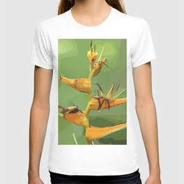 Tropical Flower CR Illustration yellow T-shirt