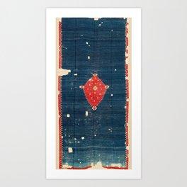 Balikesir  Antique Turkish Kilim Rug Print Kunstdrucke