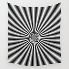 32 Rays in Black and White Wall Tapestry