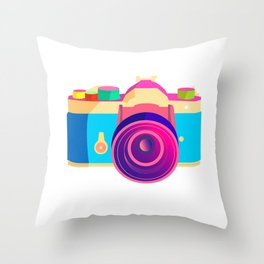 Smile now or never Throw Pillow