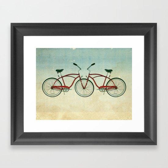 2 bikes 3 wheels Framed Art Print