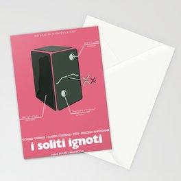 I soliti Ignoti (big deal on Madonna street, movie poster, Monicelli, Totò, Marcello Mastroianni Stationery Cards