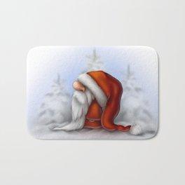 Little Santa in the snow Bath Mat