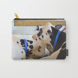 Pair of black and white cows 1 Carry-All Pouch