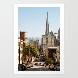 View of San Francisco from China Town Art Print