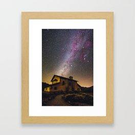 Milky Way at Ermita de las Nieves (Tenerife) Framed Art Print