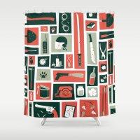 walking dead Shower Curtains featuring The walking dead by Felix Rousseau
