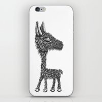 llama iPhone & iPod Skins featuring Llama by Jamie Killen