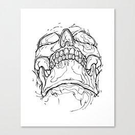 Carnibal / Ink Skull / Black / S Canvas Print