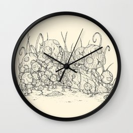 Mario Micro Mushrooms Wall Clock