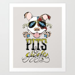 Pits & Giggles Art Print