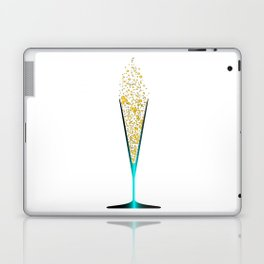 V Shaped Champagne Glasses Laptop & iPad Skin