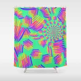 Spring breakers - geometric color Shower Curtain
