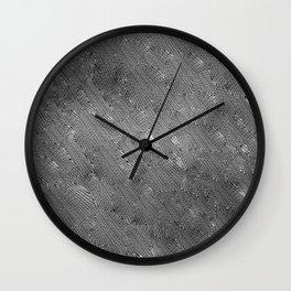 Vortex Footprints b n w Wall Clock