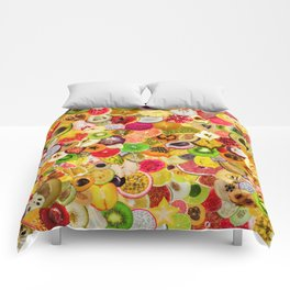 Fruit Madness (All The Fruits) Comforters