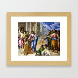 El Greco Christ Healing the Blind Framed Art Print