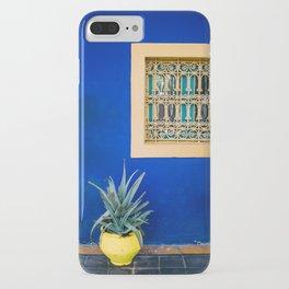 Moroccan Garden In Blue iPhone Case