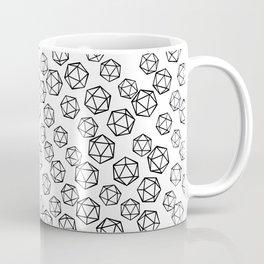 D20 Pattern - B&W Coffee Mug