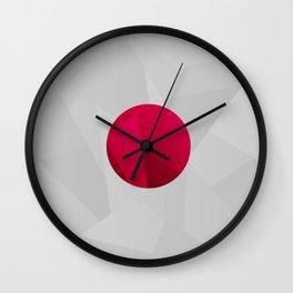 Japan Abstract Wall Clock