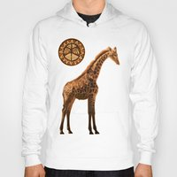 giraffes Hoodies featuring Three Giraffes by Waelad Akadan