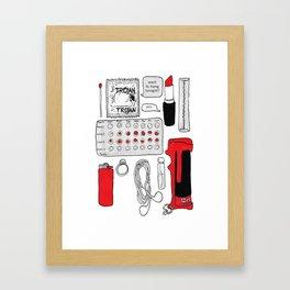 Bag Contents Framed Art Print