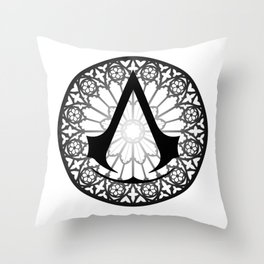 Assassin's Creed Logo Notre Dame Throw Pillow