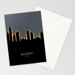 Nairobi Kenya Skyline Stationery Cards