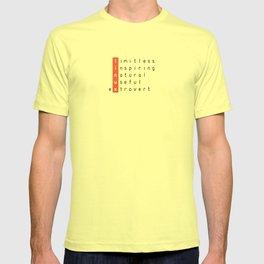 Linux - limitless, inspiring, natural, useful, extrovert - vertical T-shirt