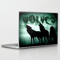 wolves Laptop & iPad Skins featuring WolveS by shannon's art space